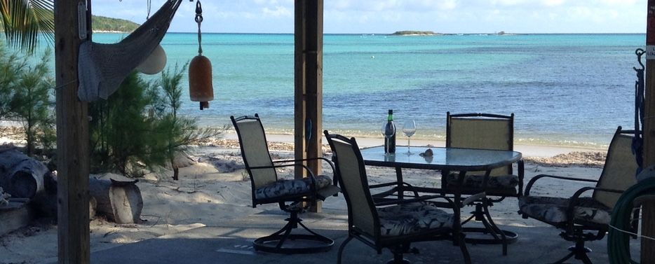 Your own tiki, gazebo on an unspoiled Bahamas beach for sale